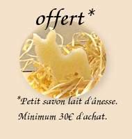 Un savon au lait d'annesse offert à partir de 30€ d'achats