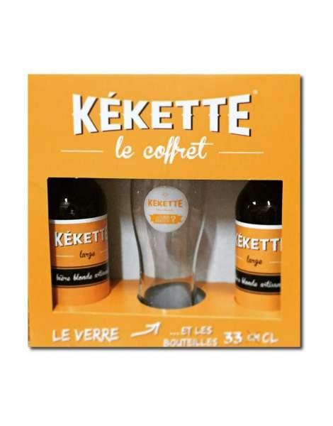 Coffret bière Kekette blonde prêt à offrir