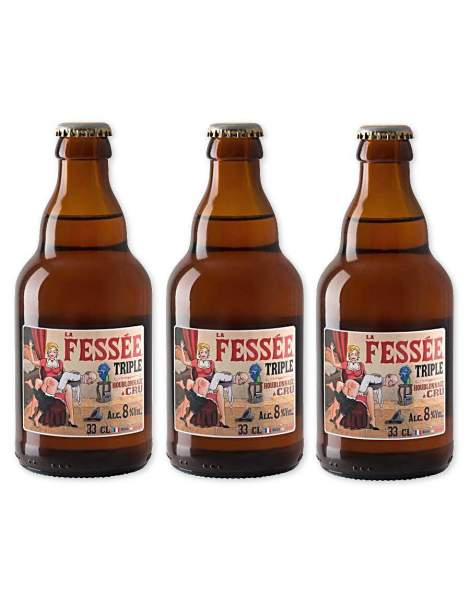 La fessée bière triple blonde 8 ° 33cl par 3