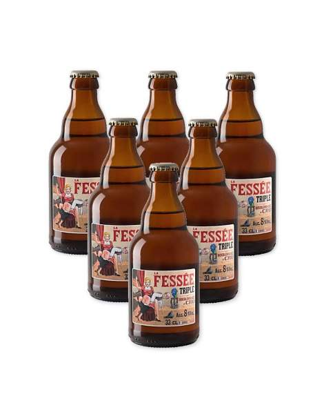 La fessée bière triple blonde 7.2° 33cl par 6