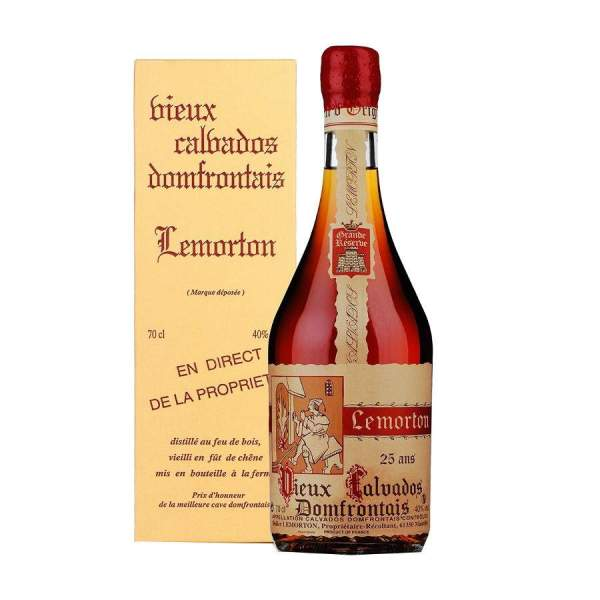 Calvados Lemorton 25 ans 40%vol 70cl