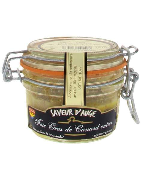 Foie gras de canard entier saveur d'auge 100g