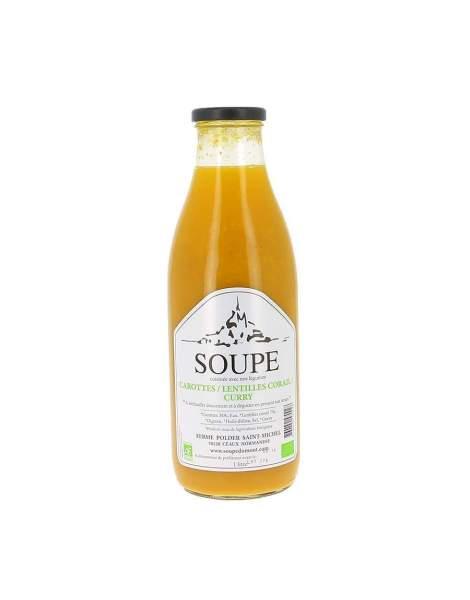 Soupe carottes, lentilles corail et curry bio 1L