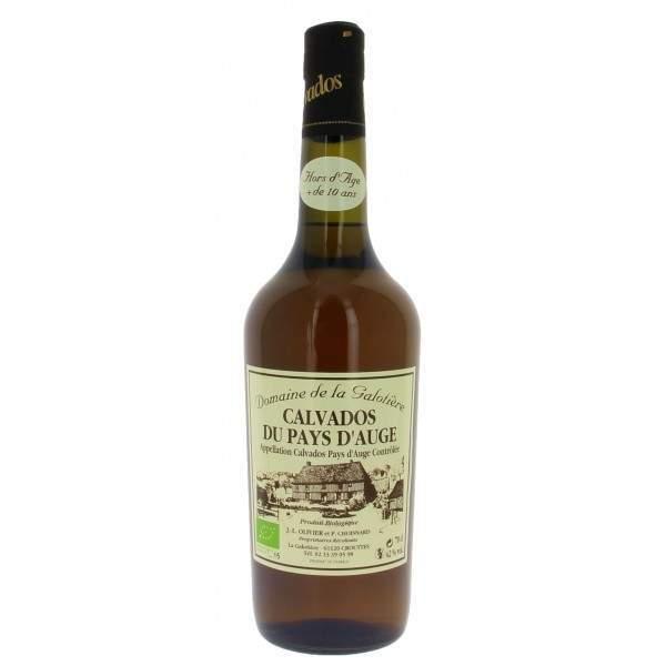 Calvados Hors d'âge bio La Galotière 70cl 42%vol