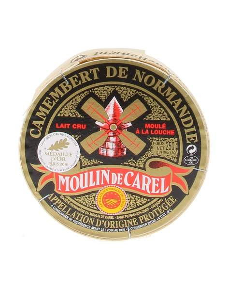 Moulin Carel Camembert de Normandie AOP 250g