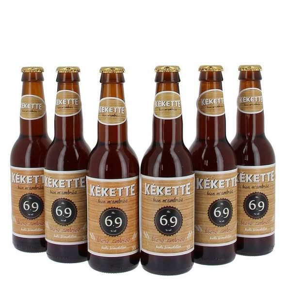 Kékette bière ambrée 6.9° 33cl par 6
