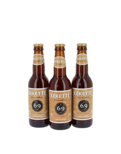 Kékette bière ambrée 6.9° 33cl par 3