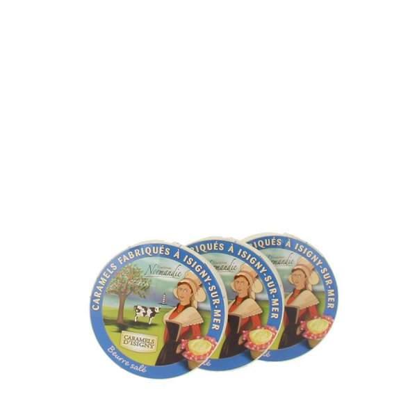 Caramels d'Isigny boite camembert 150g par 3
