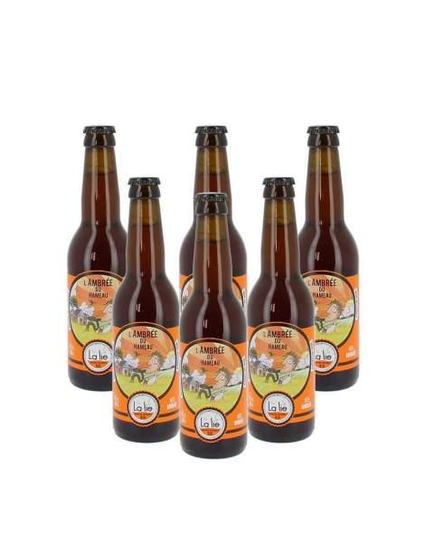 Bière de la Lie L'ambrée du hameau 5.6% 33cl par 6