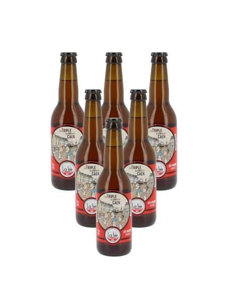 Bière de la Lie la triple à la mode de Caen 9% 33cl par 6