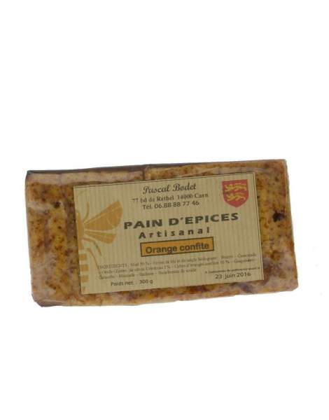 Pain d'épices à l'orange confite 300g