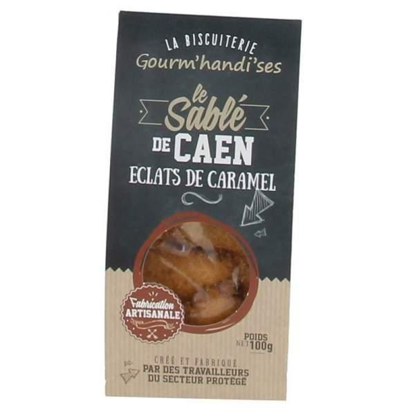 Sablé de Caen éclats de caramels 100 g Gourm'handi'ses