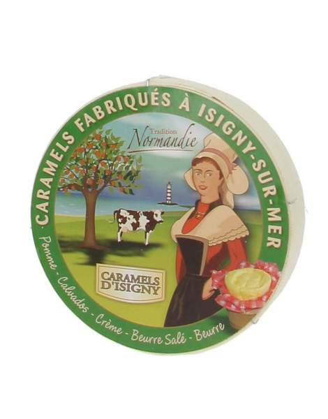 Caramels assortiment Normandie Boite camembert 250g