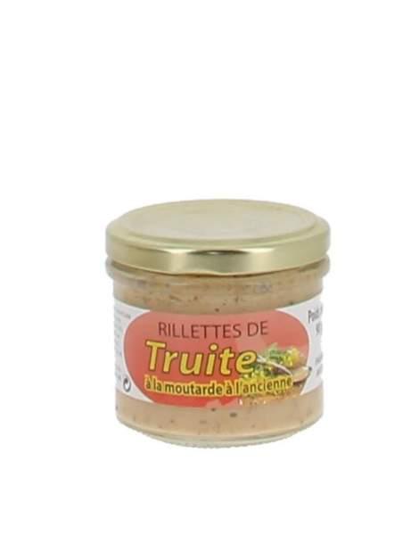 Rillettes de truite à la moutarde à l'ancienne 90 gr