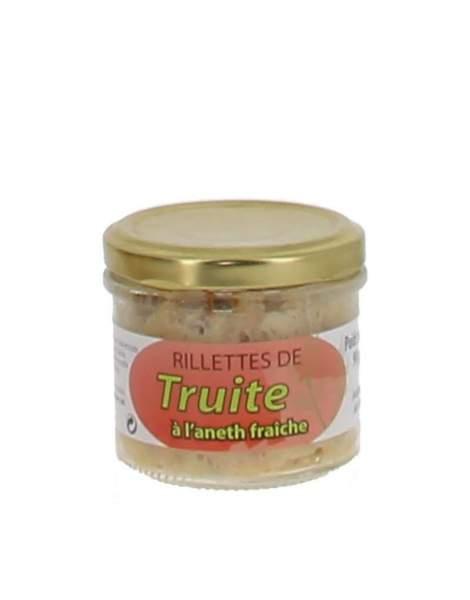 Rillettes de truite à l'aneth fraîche 90 gr