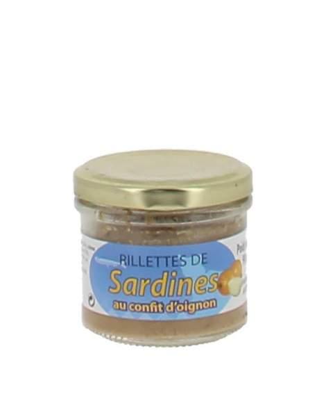 Rillettes de sardines au confit d'oignon 90 gr