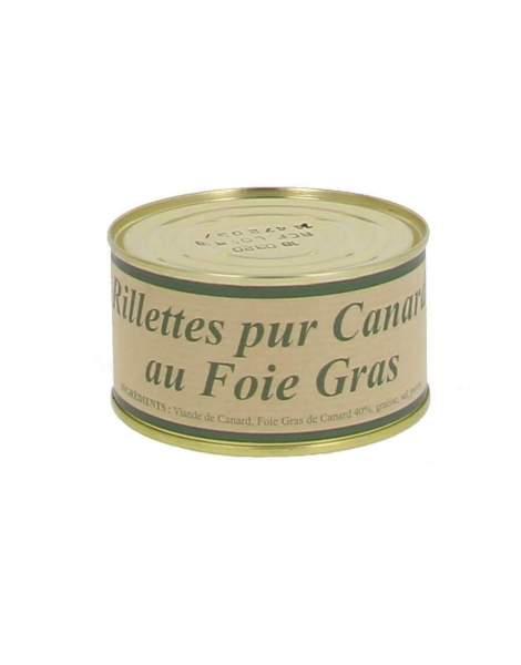 Rillettes pur canard au foie gras 200g