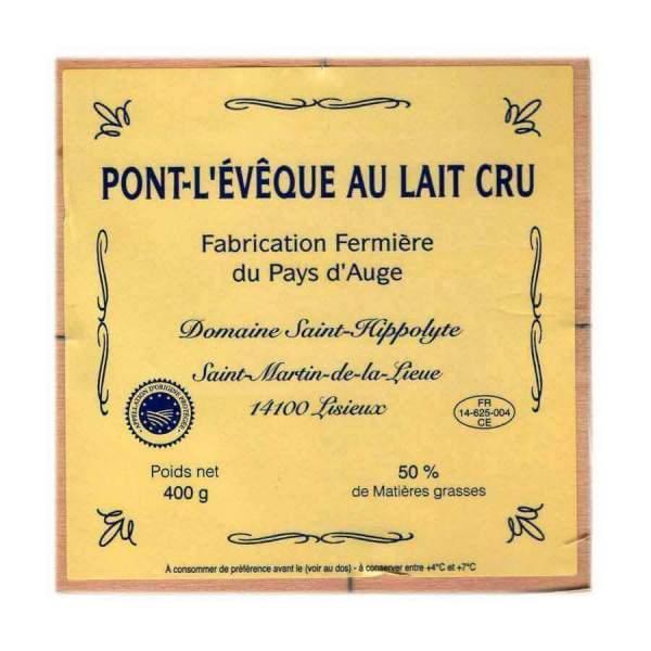 AOC Pont-L'Evêque Fermier ST HIPPOLYTE 400g