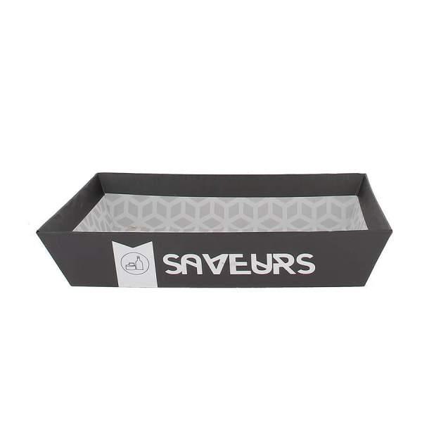 Barquette carton saveur
