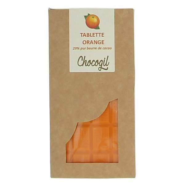 Tablette chocolat orange