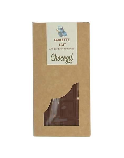 Tablette chocolat lait 100 gr