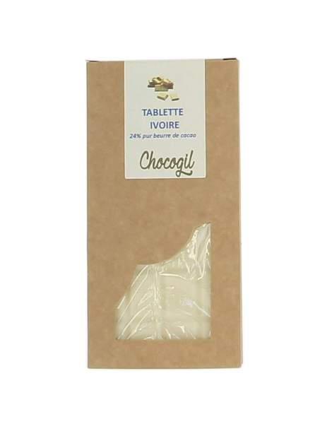 Tablette chocolat blanc 100 gr