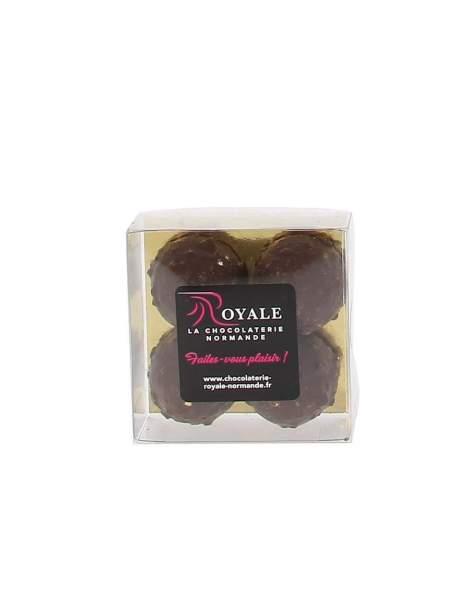 Etui 4 rochers chocolat noir 110 gr
