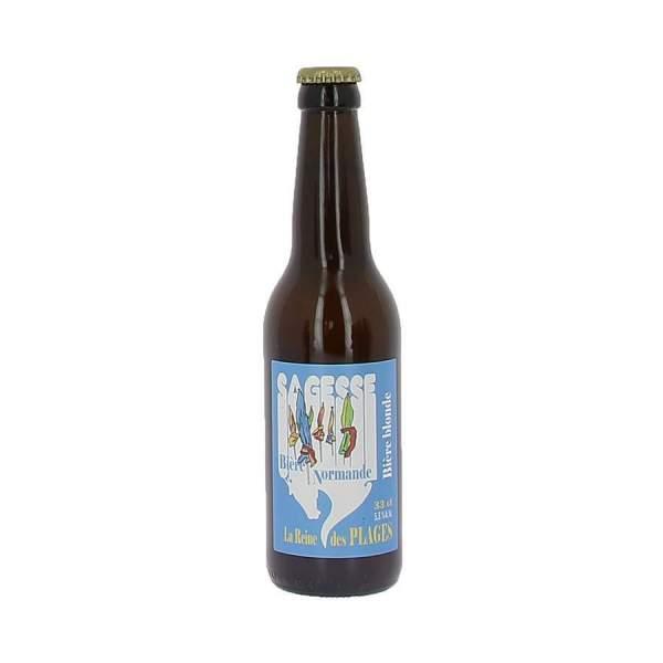 Bière La sagesse blonde la reine des plages 5.5% 33cl