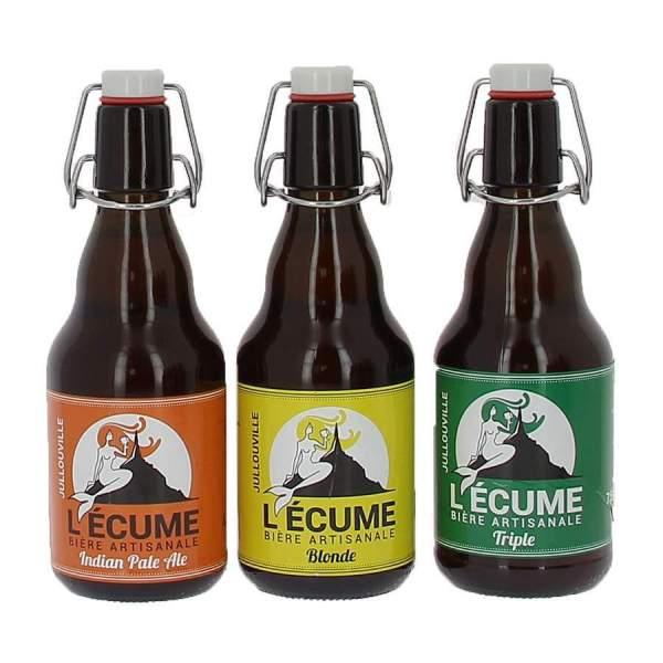 Pack découverte 3 Bières l'Ecume 33cl
