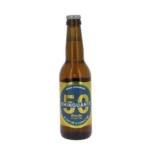 Bière La chinquante blonde 5% 33cl