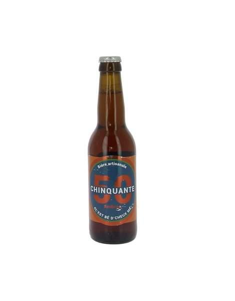 Bière La chinquante ambrée 6% 33cl