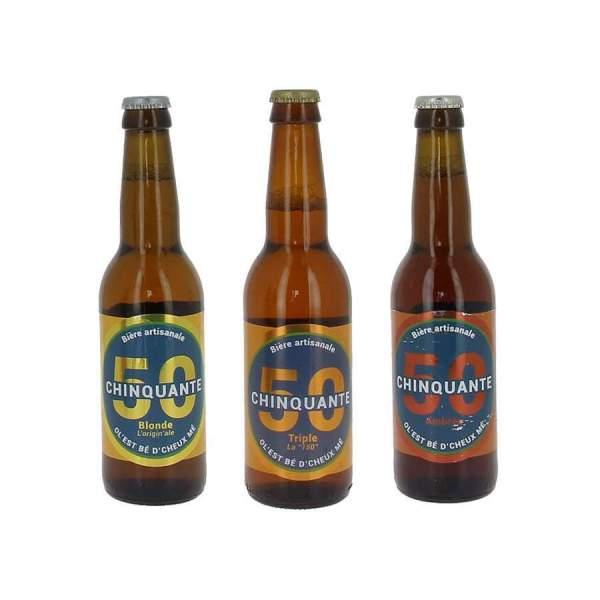 Pack découverte bières La chinquante 3*33cl