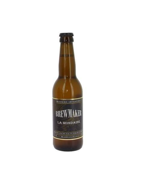 Bière blanche la mondaine Brewmaker 5% 33cl