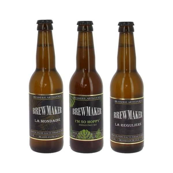 Pack découverte bières brewmaker 3*33cl
