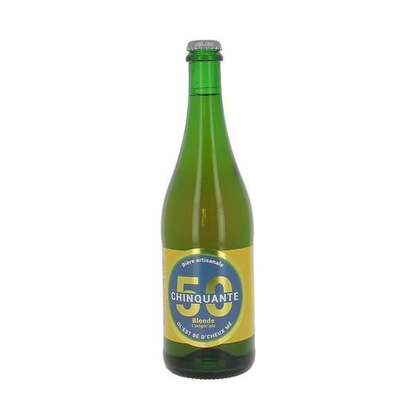 Bière blonde La chinquante 5% 75cl
