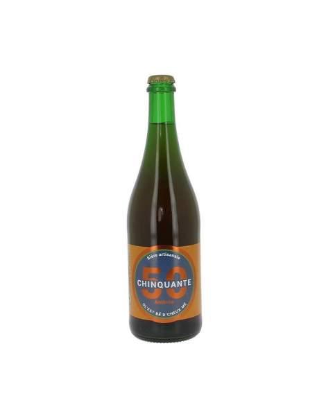 Bière ambrée La chinquante 6% 75cl