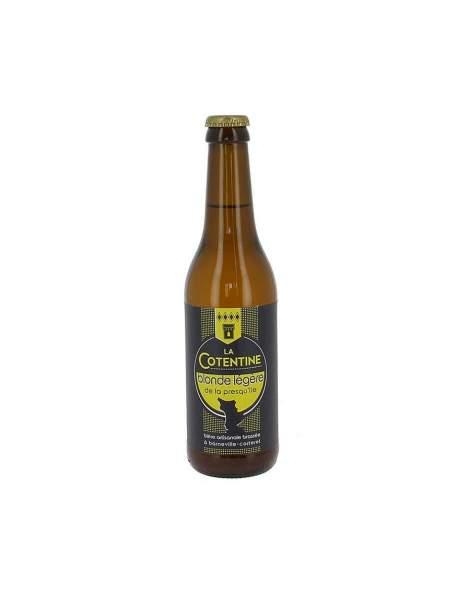 Bière La Cotentine blonde légère 4.3% 33cl