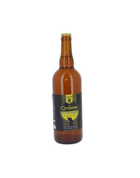 Bière La Cotentine blonde légère 4.3% 75cl