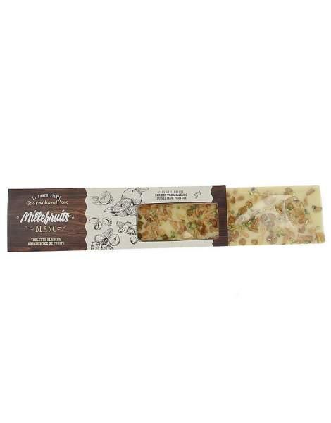 Tablette millefruits chocolat blanc Gourm'handi'ses 140g