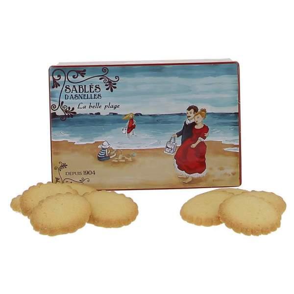 Boite ancienne la belle plage sablés d'Asnelles 500g