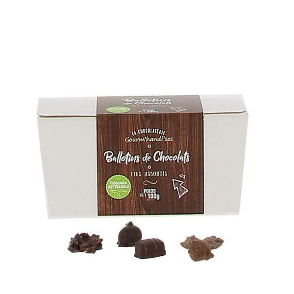 Ballotins de chocolats 100g Gourm'handises