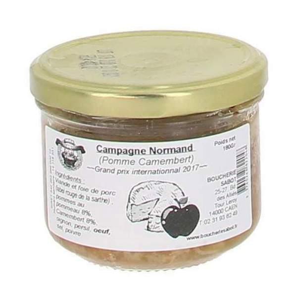 Terrine de campagne Normand (pomme et camembert) 180g
