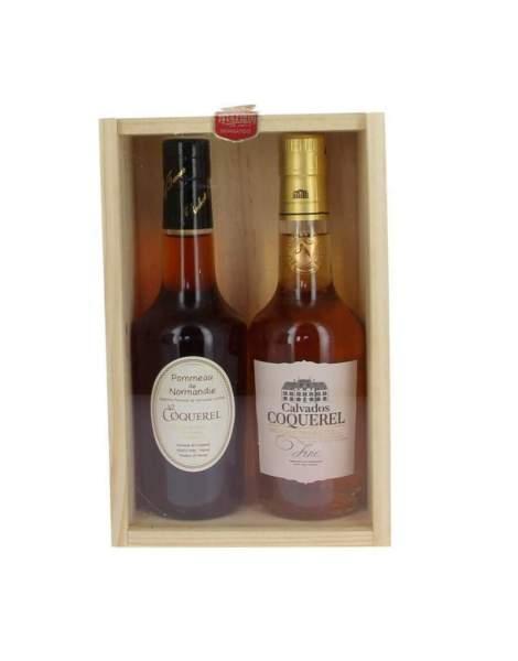 Coffret découverte Calvados fine et Pommeau de Normandie Coquerel