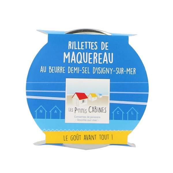 Rillettes de maquereaux au beurre demi-sel d'Isigny/mer - Les p'tites cabines 90g