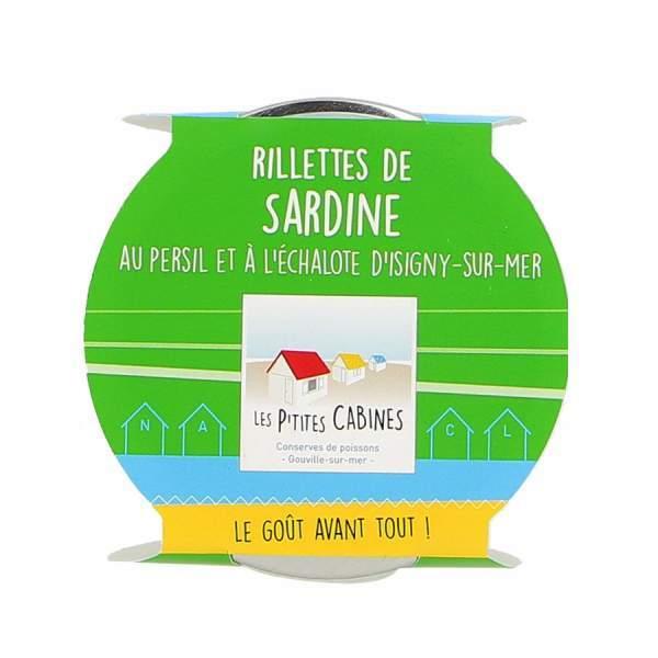 Rillettes de sardine au persil et à l'échalotte - Les p'tites cabines 90g