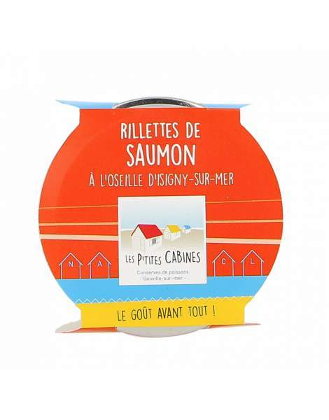 Rillettes de saumon à l'oseille - Les p'tites cabines 90g