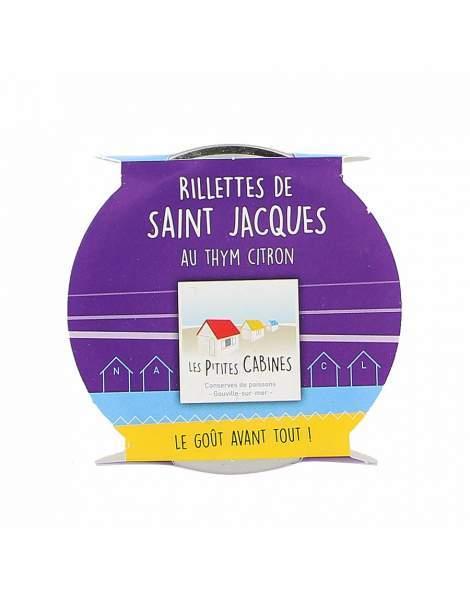 Rillettes de saint-Jacques au thym citron - Les p'tites cabines 90g