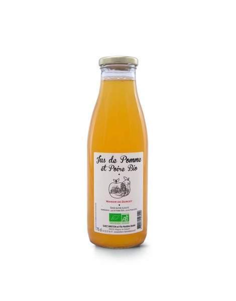 Jus de poire-pomme bio Manoir de Durcet 75cl