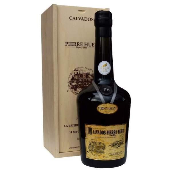 Magnum de Calvados en boite bois Cordon Argent Pierre HUET 150cl