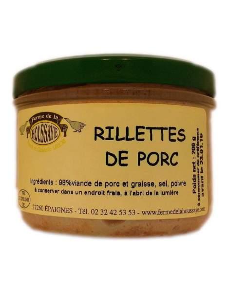 Rillettes pur porc 200g La Houssaye